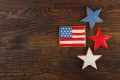 Μπισκότο με τα αμερικανικά πατριωτικά χρώματα Στοκ εικόνα με δικαίωμα ελεύθερης χρήσης