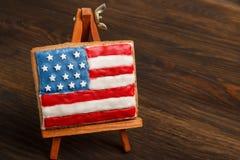 Μπισκότο με τα αμερικανικά πατριωτικά χρώματα easel Στοκ εικόνες με δικαίωμα ελεύθερης χρήσης