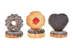 Μπισκότο με τα τσιπ σοκολάτας και καρύδων Στοκ Εικόνα