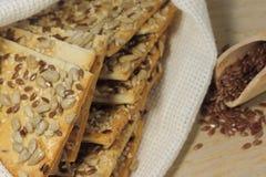 Μπισκότο με τους σπόρους λιναριού Στοκ φωτογραφία με δικαίωμα ελεύθερης χρήσης