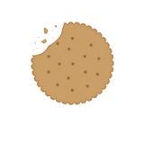 Μπισκότο μπισκότων με το δάγκωμα ελεύθερη απεικόνιση δικαιώματος