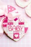 Μπισκότο ντους μωρών στοκ εικόνα