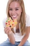 μπισκότο που τρώει το κορ Στοκ εικόνα με δικαίωμα ελεύθερης χρήσης