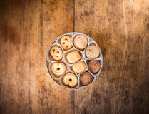 Μπισκότο πολλών μορφών στο κιβώτιο Στοκ φωτογραφία με δικαίωμα ελεύθερης χρήσης