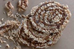 Μπισκότο ρυζιού πρόχειρων φαγητών Στοκ εικόνες με δικαίωμα ελεύθερης χρήσης