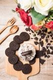 Μπισκότο σοκολάτας και cupcake Στοκ φωτογραφία με δικαίωμα ελεύθερης χρήσης