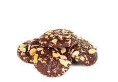 μπισκότο σοκολάτας τσιπ αμυγδάλων που απομονώνεται Στοκ εικόνα με δικαίωμα ελεύθερης χρήσης