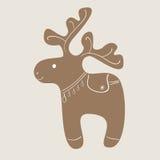 Μπισκότο ταράνδων Χριστουγέννων Στοκ φωτογραφίες με δικαίωμα ελεύθερης χρήσης