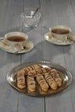 Μπισκότο τροφίμων με τη σοκολάτα Στοκ εικόνα με δικαίωμα ελεύθερης χρήσης