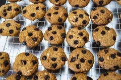 Μπισκότο τσιπ σοκολάτας αμυγδάλων Στοκ Φωτογραφίες