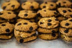 Μπισκότο τσιπ σοκολάτας αμυγδάλων Στοκ Εικόνες