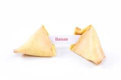 Μπισκότο τύχης - Baisse Στοκ φωτογραφία με δικαίωμα ελεύθερης χρήσης