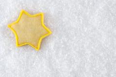 Μπισκότο Χριστουγέννων αστεριών Στοκ Εικόνα