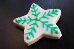 Μπισκότο Χριστουγέννων αστεριών Στοκ εικόνα με δικαίωμα ελεύθερης χρήσης