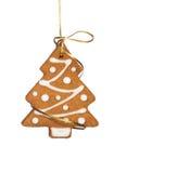 Μπισκότο χριστουγεννιάτικων δέντρων Στοκ Εικόνες