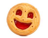 Μπισκότο Smiley σε ένα άσπρο υπόβαθρο. Στοκ εικόνες με δικαίωμα ελεύθερης χρήσης