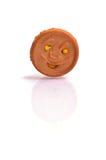 Μπισκότο Smiley στο άσπρο baground στοκ εικόνες