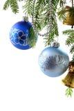 Μπιχλιμπίδια Χριστουγέννων Στοκ εικόνες με δικαίωμα ελεύθερης χρήσης
