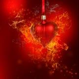 Μπιχλιμπίδι καρδιών πυρκαγιάς Στοκ εικόνα με δικαίωμα ελεύθερης χρήσης