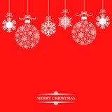 Μπιχλιμπίδια και snowflakes Χριστουγέννων Στοκ Εικόνες