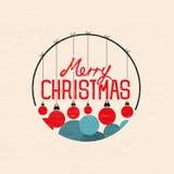 Μπιχλιμπίδια Χαρούμενα Χριστούγεννας Στοκ Εικόνες