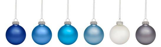 Μπιχλιμπίδια Χριστουγέννων που απομονώνονται στο λευκό Στοκ Εικόνα