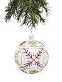 Μπιχλιμπίδι και χριστουγεννιάτικο δέντρο Στοκ Φωτογραφίες