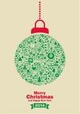 Μπιχλιμπίδι Χριστουγέννων διανυσματική απεικόνιση