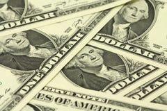 Μπιλ ένα αμερικανικό δολάριο Στοκ Εικόνες