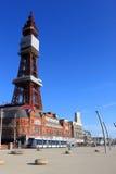 Μπλάκπουλ Κ lancashire που περνά το u τραμ πύργων Στοκ φωτογραφίες με δικαίωμα ελεύθερης χρήσης