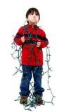 Μπλεγμένα φω'τα Χριστουγέννων Στοκ φωτογραφία με δικαίωμα ελεύθερης χρήσης