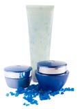 μπλε άλας λοσιόν κρέμας 2 λ στοκ φωτογραφίες με δικαίωμα ελεύθερης χρήσης