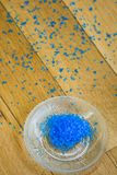 Μπλε άλας λουτρών Στοκ φωτογραφία με δικαίωμα ελεύθερης χρήσης