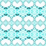 Μπλε άνευ ραφής σχέδιο καρδιών αγάπης Στοκ Εικόνα