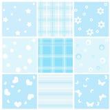 μπλε άνευ ραφής σύνολο μω&r Στοκ φωτογραφία με δικαίωμα ελεύθερης χρήσης