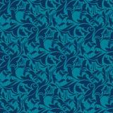 μπλε άνευ ραφής ταπετσαρία προτύπων διανυσματική απεικόνιση