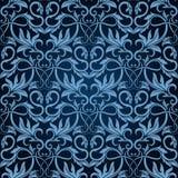 μπλε άνευ ραφής ταπετσαρί&al διανυσματική απεικόνιση