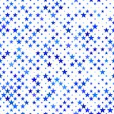 Μπλε άνευ ραφής υπόβαθρο σχεδίων αστεριών - διανυσματικό σχέδιο Στοκ φωτογραφία με δικαίωμα ελεύθερης χρήσης