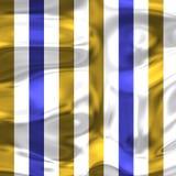 Μπλε άσπρα και χρυσά λωρίδες μόδας με τις φωτεινές σκιές 2 Στοκ φωτογραφία με δικαίωμα ελεύθερης χρήσης
