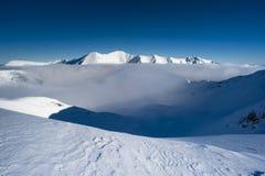 μπλε άσπρος χειμώνας τοπίου Στοκ Εικόνες