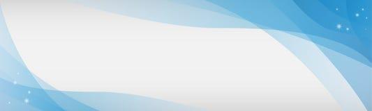 Μπλε άσπρο αστέρι ουρανού υποβάθρου και εμβλημάτων Στοκ Εικόνα