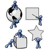 μπλε άτομα αντικειμένων δ&iota απεικόνιση αποθεμάτων