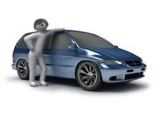 μπλε άτομα αυτοκινήτων Στοκ Φωτογραφίες