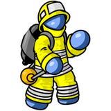 μπλε άτομο πυροσβεστών Στοκ Φωτογραφίες