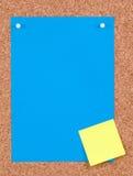 μπλε έγγραφο Στοκ Εικόνες