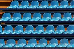 μπλε έδρες Στοκ φωτογραφίες με δικαίωμα ελεύθερης χρήσης