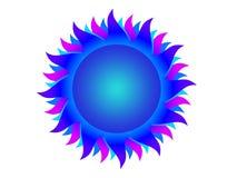 μπλε ήλιος ελεύθερη απεικόνιση δικαιώματος