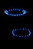 μπλε αέριο φλογών Στοκ Φωτογραφίες