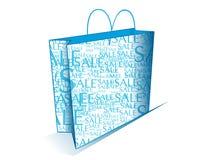 μπλε αγορές τσαντών Στοκ εικόνα με δικαίωμα ελεύθερης χρήσης