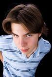 μπλε αγόρι Στοκ Φωτογραφίες